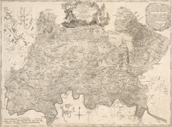 A MAP of the COUNTY of MIDDLESEX Reduced from An Actual Survey in four sheets by John Rocque